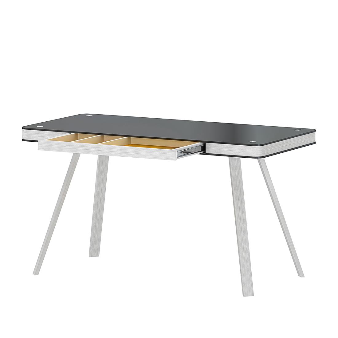 jahnke bureau smart desk wit glas 120 x 60 cm aanbieding kopen. Black Bedroom Furniture Sets. Home Design Ideas