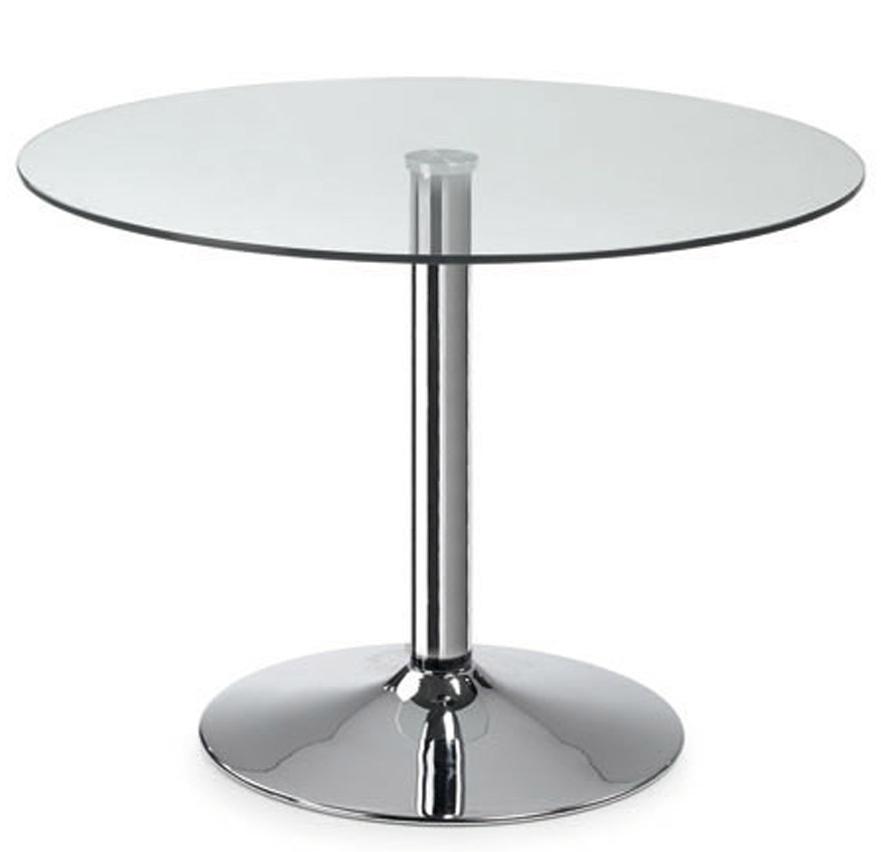 Keuken Recht 260 Cm : Tafel Columbia Glas Chroom 110 Cm Aanbieding kopen Lage prijs