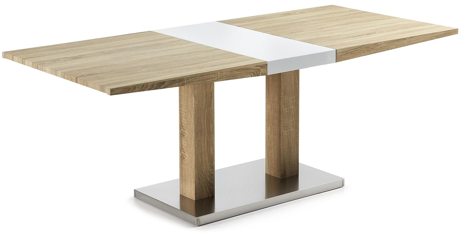 Laforma uitschuifbare tafel zentosa 160230 x 90 cm wit for Uitschuifbare eettafel
