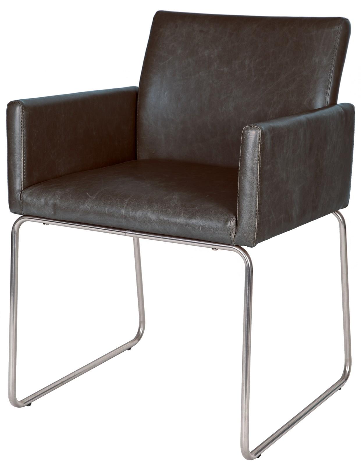 Eetkamer eetkamerstoelen poortvliet : Woood Set (2) Stoelen Toby Armleuningen PU Lederlook Vintage zwart