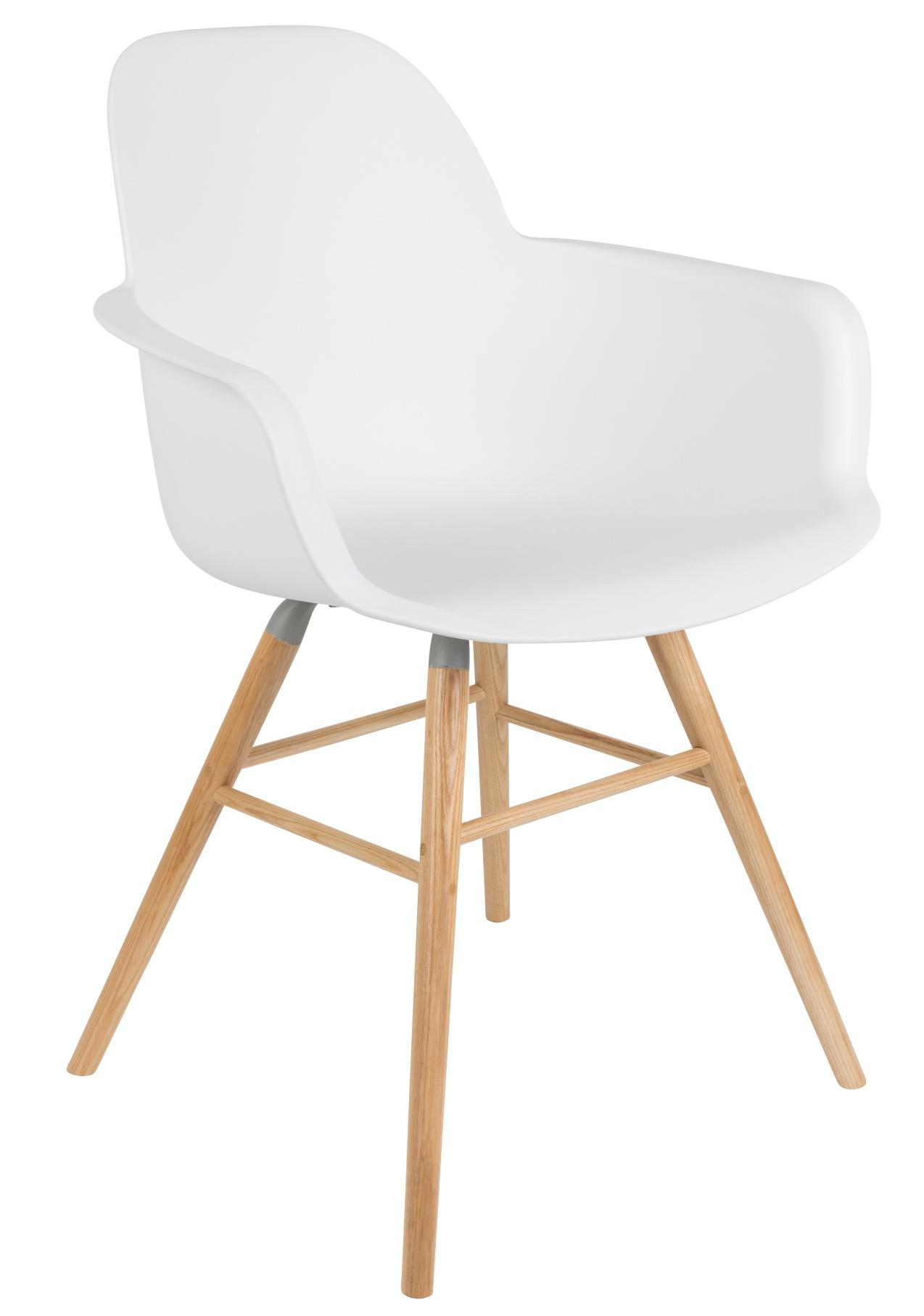Zuiver set 2 stoelen albert kuip armleuningen wit for Zuiver stoelen