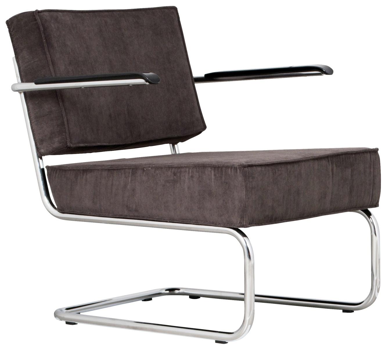 Zuiver lounge chair ridge rib fauteuil zuiver in de aanbieding kopen - Lounge grijs ...