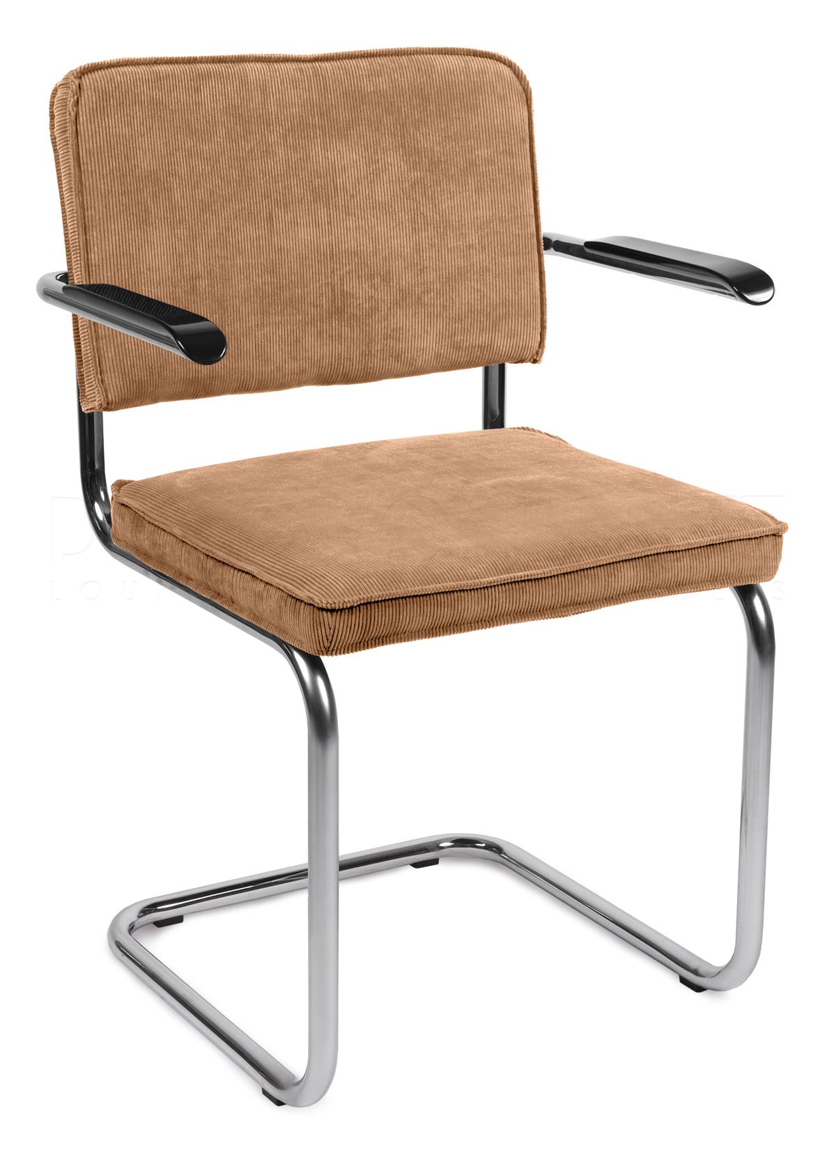 Image zuiver stoel ridge rib armleuning camel for Design stoel 24