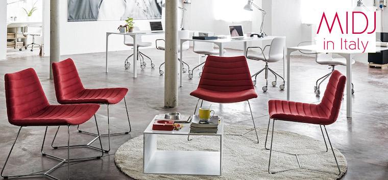 Design wachtkamer meubilair van MIDJ